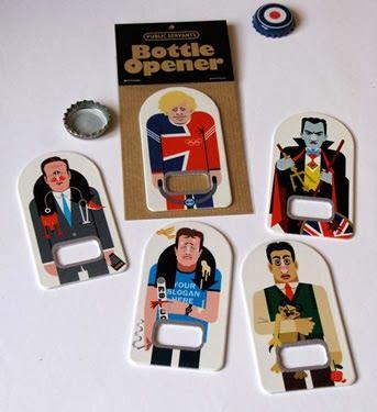 Amazing Boris Johnson/David Cameron bottle openers.