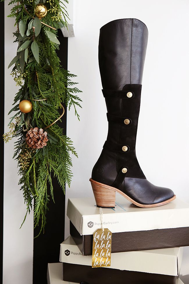 The Military Boot - Wide calves to narrow calves - Poppy Barley - Holiday Collection - Photo by Andrea Hanki