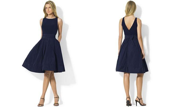 Lauren Ralph Lauren Petite Pleated Cocktail Dress - Dresses - Women - Macy's