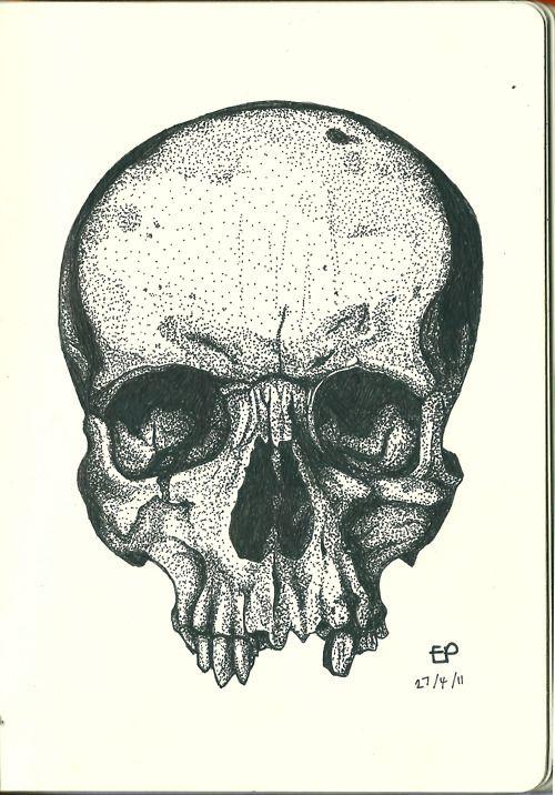 Stippled skull. Must use                                                                                                                                                     More