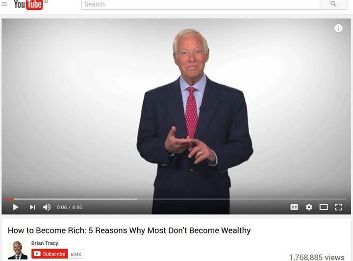 """Yuk kita Belajar dari Brian Tracy :  """"5 alasan Utama Mengapa banyak orang Gagal mencapai kebebasan Finansial yang mereka inginkan""""  1. Mereka tidak tahu bahwa mereka bisa Kaya 2. Mereka tidak pernah membuat keputusan untuk menjadi Kaya 3. Mereka memiliki kebiasaan untuk menunda apa yang mereka bisa lakukan sekarang juga 4. Mereka tidak siap menunda belanja yang tidak perlu 5. Mereka tidak memberikan prioritas waktu untuk mencapai kebebasan finansial  Selangkapnya…"""