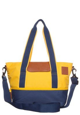 Baby changing bag - navy/yellow