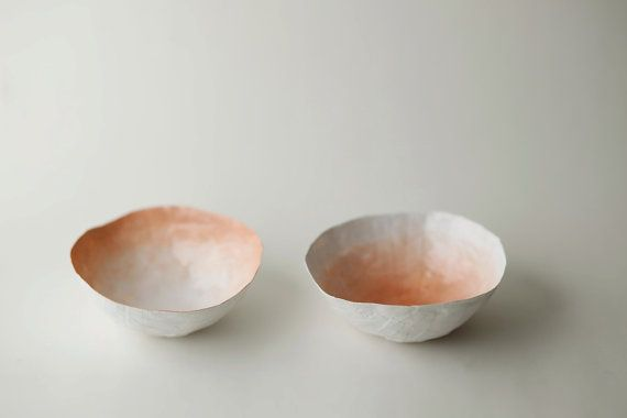 Small Peach Fade Bowl Set by upintheairsomewhere on Etsy