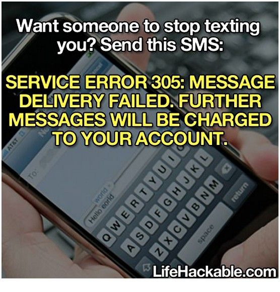 SERVICE ERROR 305: MESSAGE DELIVERY FAILED. FURTHER MESSAGES WILL BE CHARGED TO YOUR ACCOUNT.
