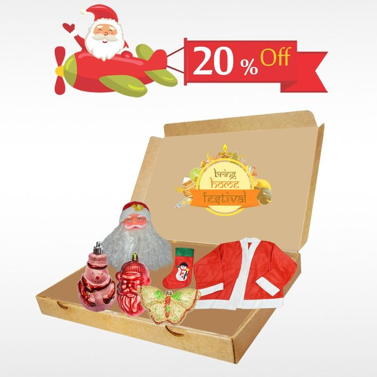 Buy a surprise gift to your kids this #Christmas  and avail 20% off on #ChristmasGiftBox only at #BringHomeFestival