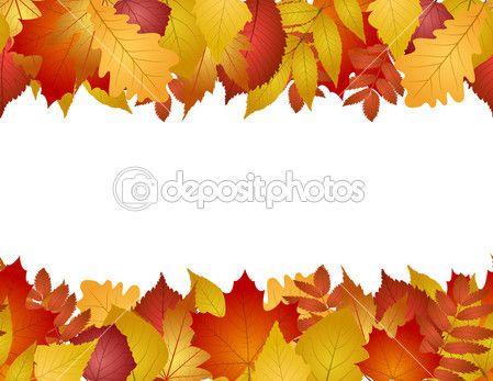 Бесшовные с осенними листьями — стоковая иллюстрация #13235888