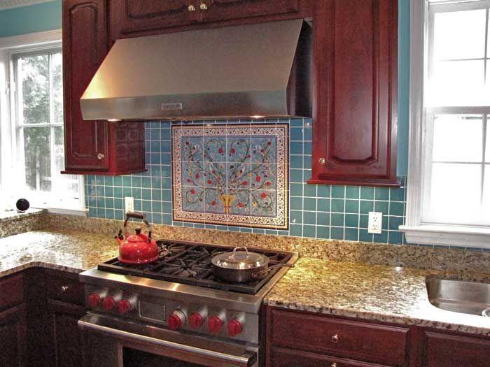 44 best kitchen backsplash images on Pinterest | Fondo de mosaíco de ...