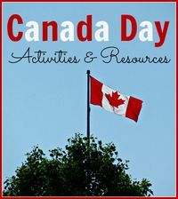 A list of activities and resources for celebrating Canada Day as a family, from books to read to recipes to make to crafts to do. Happy Canada Day!
