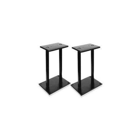 Heavy-Duty Steel Quad Support Bookshelf / Monitor Speaker Stands, Multicolor
