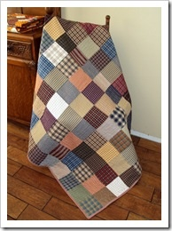 Men's Plaid Quilt Pattern
