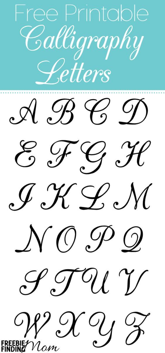 Free printable calligraphy letters fonts