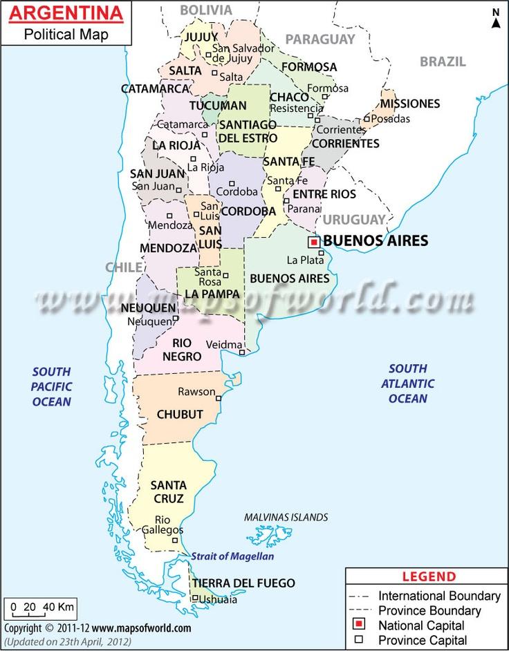Best Argentina Map Ideas On Pinterest Uruguay Map Argentina - Argentina political map 1996