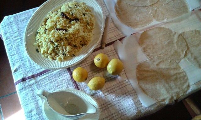 Lemon Rice & home made Chapati * India at Your Home *