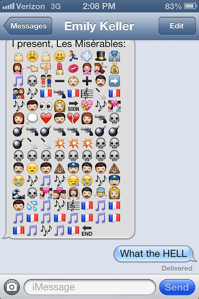 Who needs to watch Les Miserables when you can Emoji it