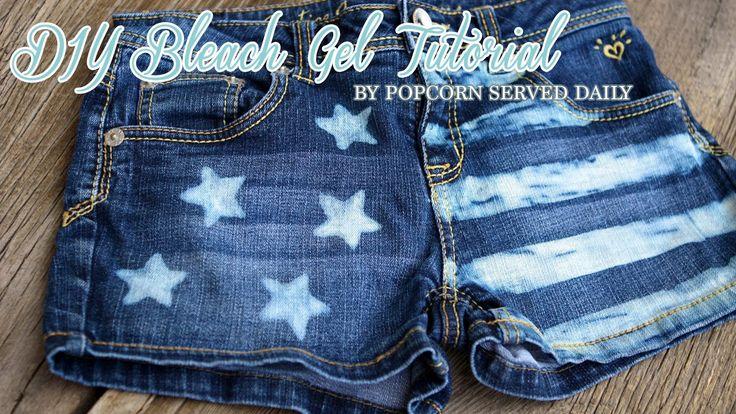 DIY Bleach Gel - Restyle Denim Short