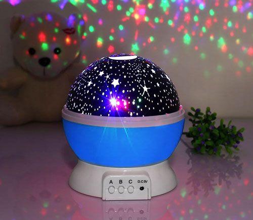 Lámpara de estrellas Ecandy para niños. Prollecta las estrellas y el cielo con una luz nocturna para conciliar el sueño de los más pequeños. Chollo.