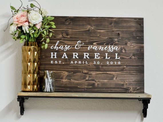 Wedding Guest Book Alternative  Wood Wedding Guest by LoveSupplyCo