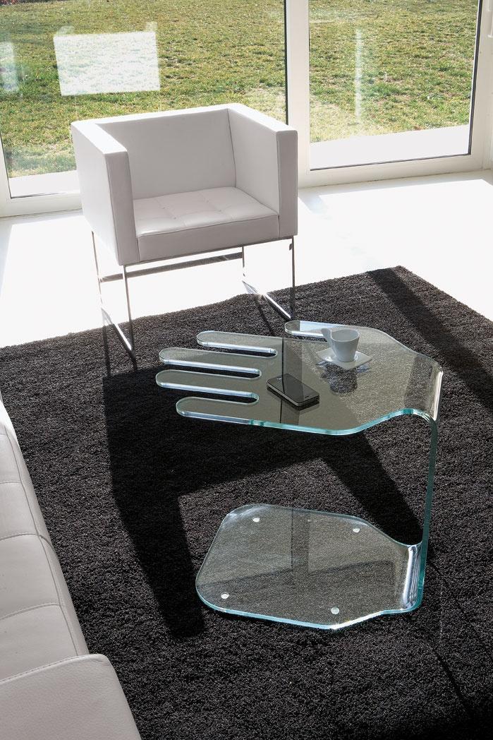 Tavolino di servizio in vetro design President - ITALY DREAM DESIGN