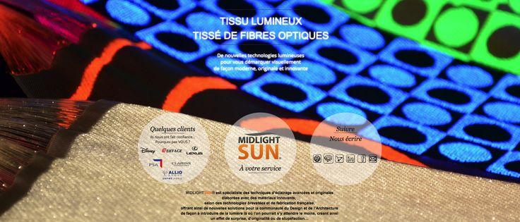 Solution d'éclairage innovante De nouvelles technologies lumineuses pour vous démarquer visuellement de façon moderne, originale et innovante. Tissu lumineux tissé de fibres optiques Idéal pour toutes les entreprises désireuses d'avoir un nouveau support lumineux innovant.