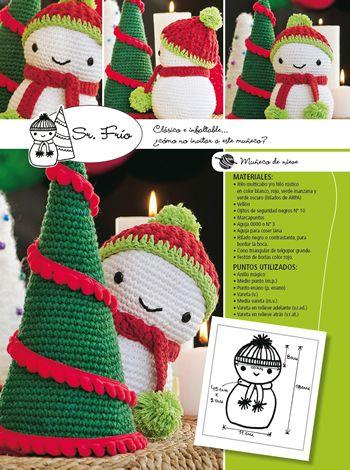 07- Sr. Frío - Crochet - Amigurumis Navidad