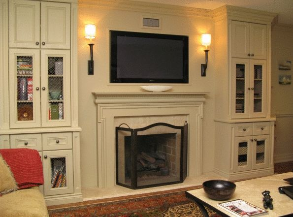 Fireplace Entertainment Wall Through To See Examples