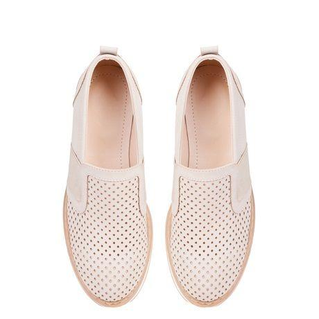 Μπεζ flatform loafer