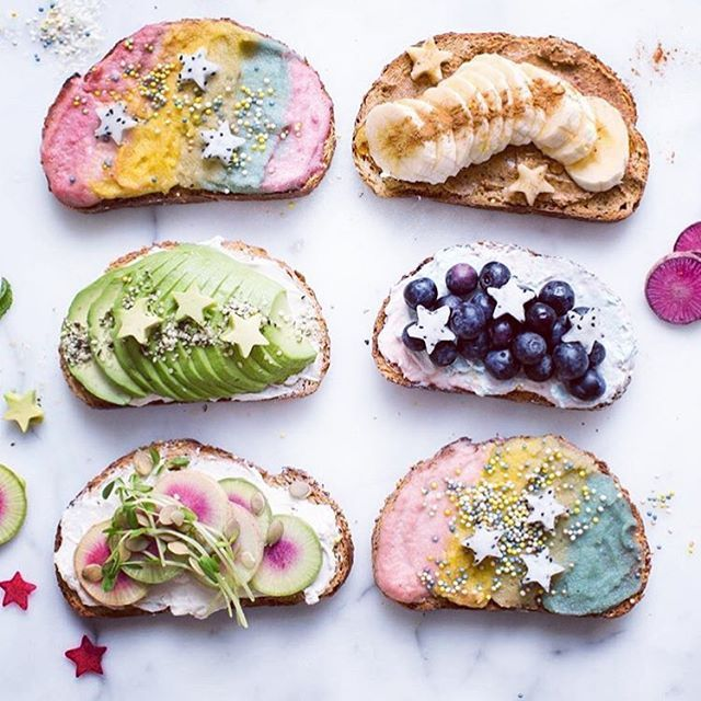 Mermaid Toast?! What a gorgeous food idea.