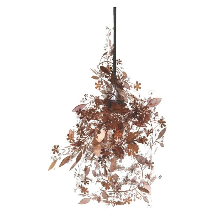 GARLAND Copper etched metal floral ceiling light shade | Buy now at Habitat UK