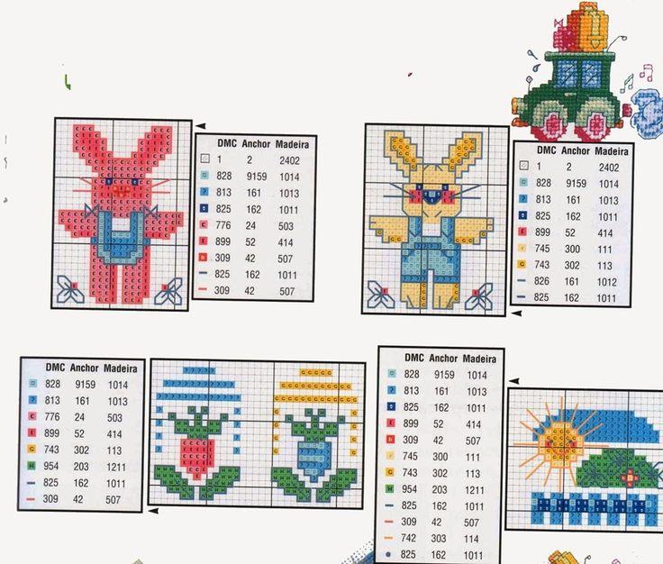 Olá, menininhas bordadeiras! Hoje trago uma seleção de 55 gráficos de ponto cruz para bebês, bem delicados e fofos. São gráficos infantis ótimos para bordar em fraldas, mantas, em toalhinhas, fraldas de boca, babadores. Não há coisa mais fofa de...