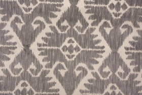 Southwestern Tapestry Upholstery Fabric in Charcoal