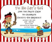 Custom Printable JAKE and the NEVERLAND PIRATES with Izzy and Cubby 5 x 7 Birthday Party Invitation. $8.00, via Etsy.: Pirate Party, Birthday Party Invitations, Printable Jake, Birthday Parties, Pirate Birthday, Birthday Jake, 3Rd Birthday, Neverland Pirates, 2Nd Birthday