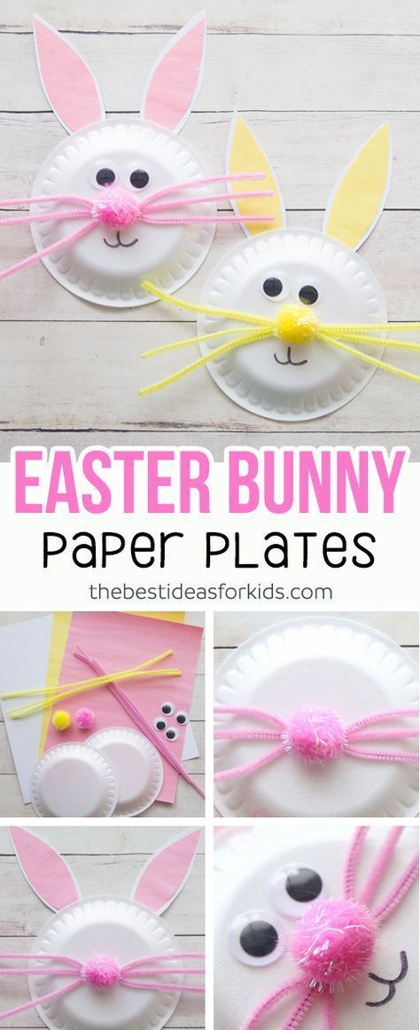 Easter Craft for Kids - this paper plate Easter Bunny craft is so cute and easy to make! Kids will love helping to make this easy Easter craft. #easter #kidscraft #easterbunny #papercraft #kidsactivities