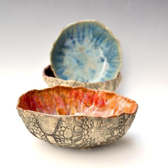 Ceramic Art...want to do something similar for empty bowls
