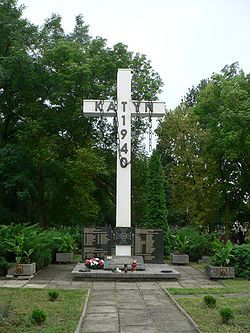 The cross for Katyń Victims, Tomaszów Maz.