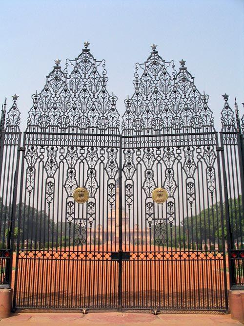 Gate, Rashtrapati Bhavan, Rajpath, New Delhi, India