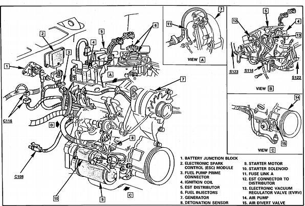 GMC Knock Sensor | Plan mécanique vortec v8 53l