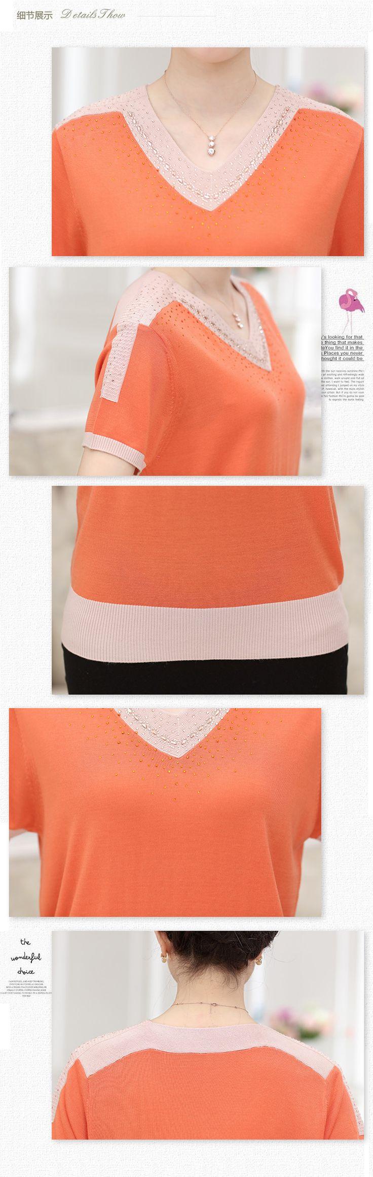 Aliexpress.com: Make yourself the most beautiful üzerinde Güvenilir t-shirt tüp tedarikçilerden 2016 güzel yeni kadın yaz V Yaka Tişört triko gevşek büyük boy kısa kollu T shirt ipek bayanlar tops Satın Alın