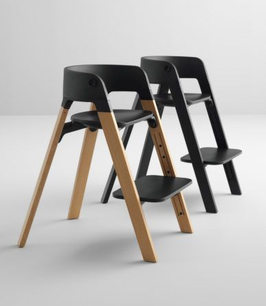 Black Chair Furniture Material Break Matte Permafrost Plastic Structure Wood