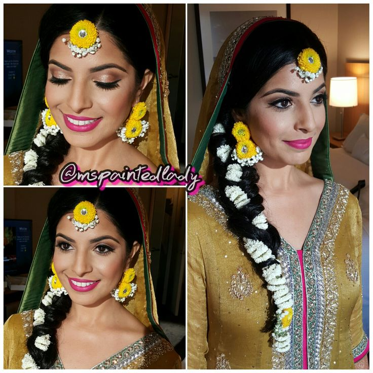 #desi bridal makeup and hair. Dallas Indian Bride by Ms Painted Lady. mehndi