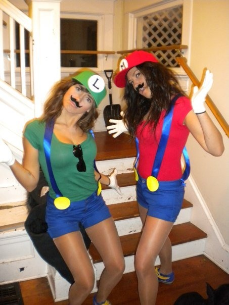 if we did this for halloween we could wear mustaches!!! haha