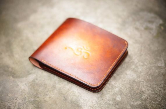 Handmade Leather Wallet  Light Tan Patina by GMleathercraft