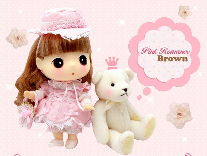 [Authentic Korean DDUNG]18cm Pink Romance Brown hair!!Nice present!  фото