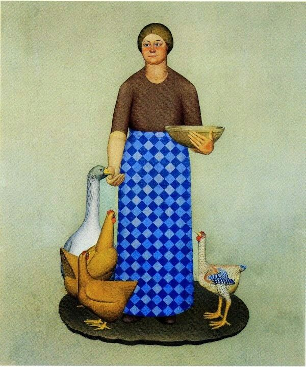 Grant Wood - 1932 Farmer's Daughter oil on canvas 15.6 x 98.4 cm Coe College, Cedar Rapids, Iowa