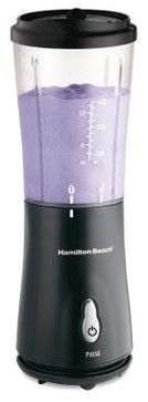 Hamilton Beach Personal Blender With Travel Lid, Black - contemporary - blenders and food processors - Amazon