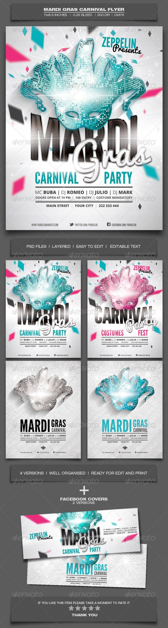 Carnival Flyer Template Photoshop - CreativeFlyers