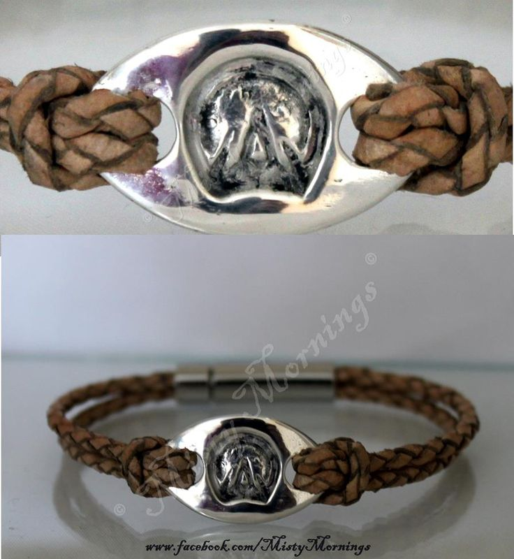 Solid silver barefoot hoofprint on real leather bracelet, choice of colours for the leather www.facebook.com/MistyMornings