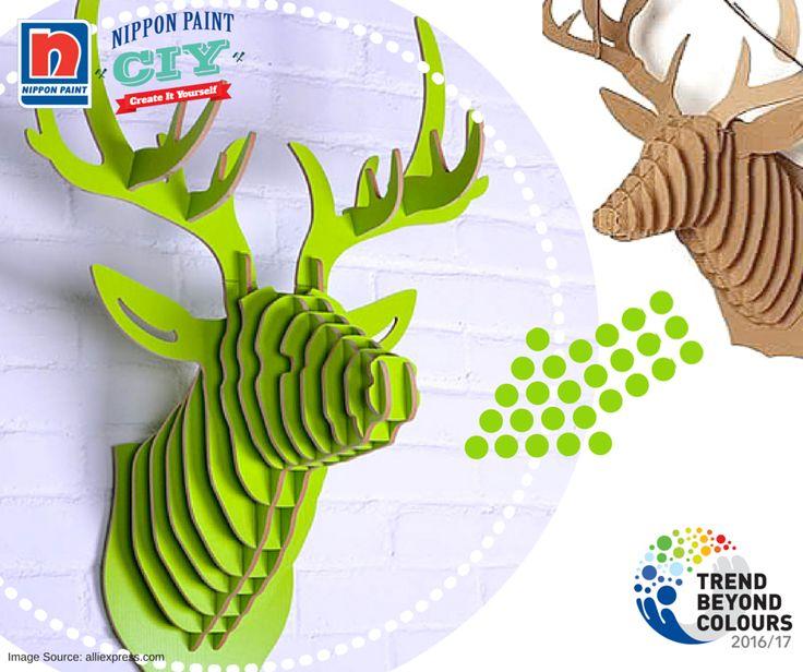 Karya seni Anda dapat dibuat menjadi inti dari keistimewaan dan keanggunan. Menggunakan Green Tuft NP BGG 1666A, cat karton untuk membuat rusa pajangan Anda sepotong demi sepotong sebelum perakitan.