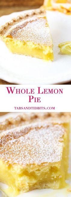 A sweet and tart custard-like pie bursting with lemon flavor!