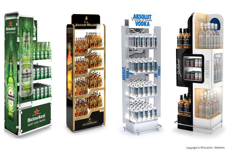 Producent materiałów POS, displaye, standy, regały, traye, ekspozytory – Willson & Brown | Alkohole