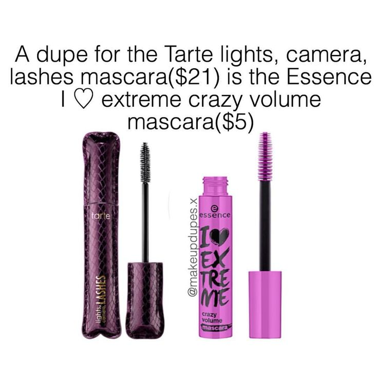 "184 Likes, 4 Comments - makeup dupes  (@makeupdupes.x) on Instagram: ""this dupe was suggested by @thesea_x ! these mascaras can create super voluminous lashes!essence…"""
